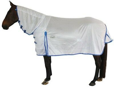 CARIBU Euro-Lite 140gsm Fly Air Mesh Neck Combo Horse Rug, Cool & Durable White