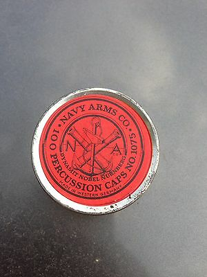 Vintage Navy Arms Co. Percussion Caps Germany Tin With Caps No 1075