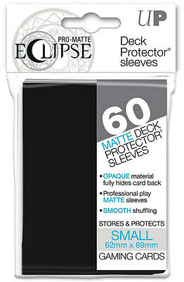 60 Ultra Pro-Matte ECLIPSE BLACK Small Mini Deck Protector Card Sleeves 85386