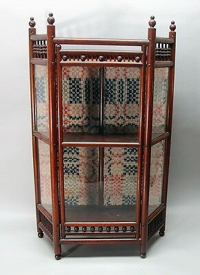 Smaller VICTORIAN-ERA Walnut Display Cabinet For Table Top or Hanging  c. 1880