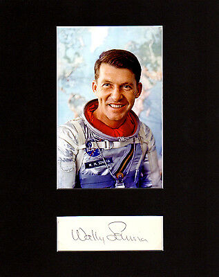 Wally Schirra Autographed Mat Piece! Mercury 7! NASA! Astronaut! Very Rare!