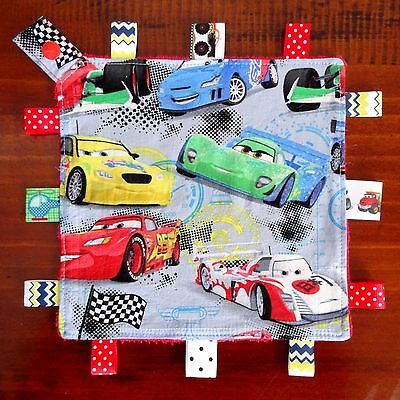Disney Cars Mini Size Taggie Security Blanket toy comforter dummy clip holder
