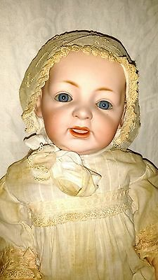 "18"" Antique Kestner JDK c.1910 Character Baby Doll Bisque Dome Head"