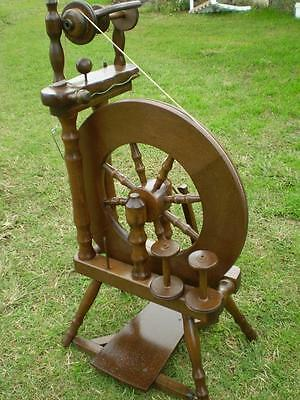 Colletable Ashford Traveller wool spinning wheel made in NewZealand all timber