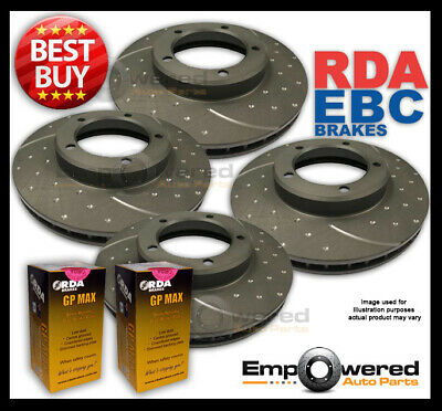 FULL SET DIMPLED SLOTTED Ford Falcon EA 1990-6/1991 DISC BRAKE ROTORS + PADS