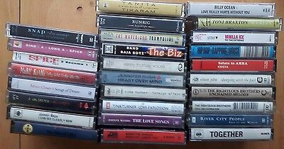 Music Cassette Collection 28 Pop Tapes free delivery for UK *LOT40