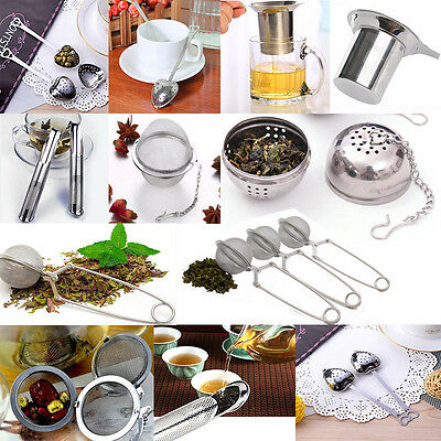 Hot Stainless Steel Infuser Strainer Mesh Tea Filter Spoon Locking Spice Ball