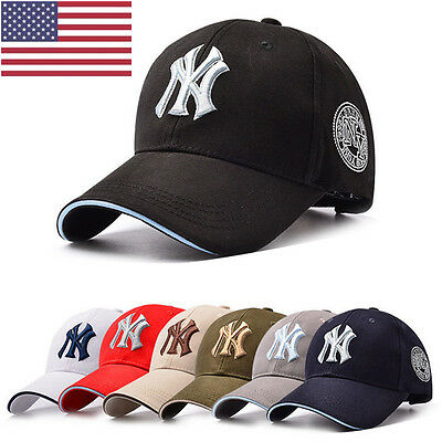 Men Women NY Snapback Baseball Caps Casual Solid Adjustable Cap Bboy Hip Hop Hat