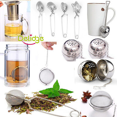Stainless Steel Tea Infuser Ball Mesh Loose Leaf Strainer Filter Spice Holder