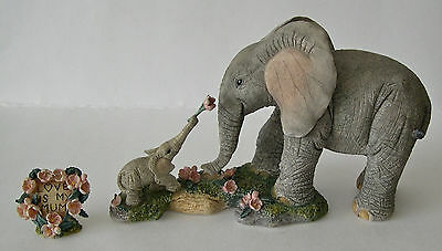 Country Artists Elephant Tuskers Love Is My Mum CA91171 with Plaque B Price 2004