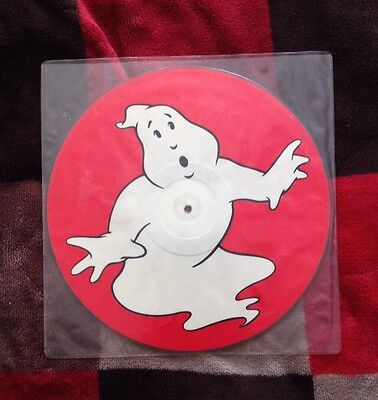 """1984 12"""" Ray Parker Jr Ghostbusters Vinyl Record - Glow In The Dark Rare"""