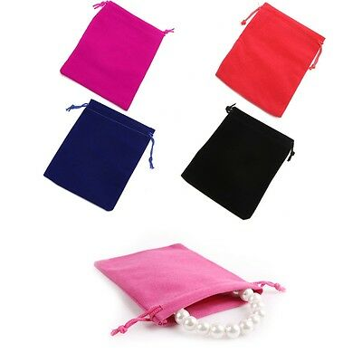 1PC Velvet Bags Jewelry Party Wedding Favor Gift Drawstring Pouches 12x15CM