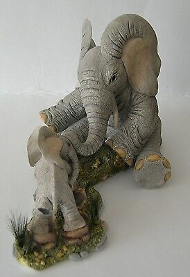 Country Artists Elephant Tuskers Like Father, Like Son CA91254 by B Price 2005