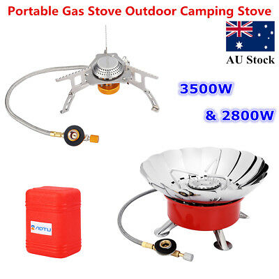 Outdoor Foldable Gas Stove Cooker Portable Camping Picnic Steel Gas Burner Case