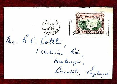 RHODESIA STAMPS- Victoria Falls, cover to UK,1951 Southern
