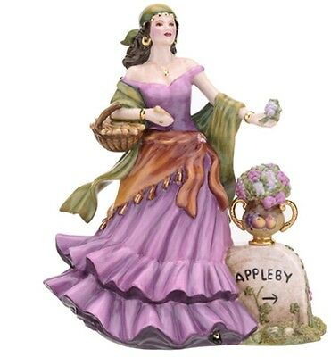 Royal Worcester Lucky White Heather Seller Gypsy Figurine Limited Ed New In Box