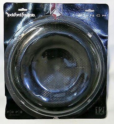 "ROCKFORD FOSGATE Punch 12"" Mesh Metal Grill Insert P2P3G-12 Cone Protector BLACK"
