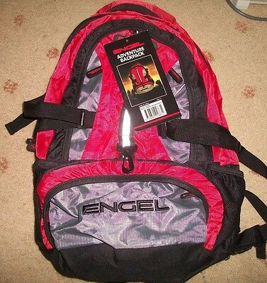 Engel Adventure Backpack - New, Day Pack, Water Resistant - Hiking, Camping