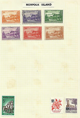 SALE - Norfolk Island selection on page - H/Mint - 1948-1965