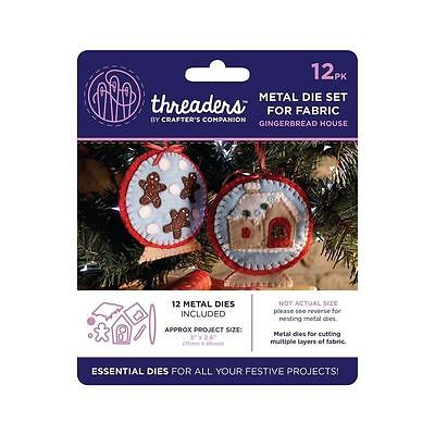 Threaders - Mixed Media Metal Card + Fabric Die Set - Xmas Gingerbread House