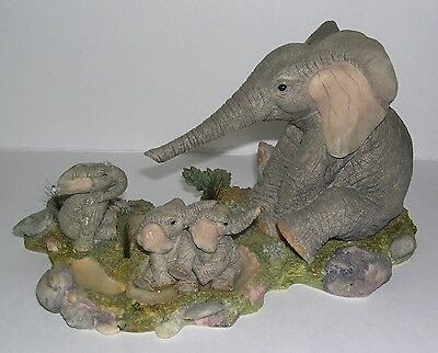 Country Artists Elephant Tuskers Blow Dry CA91175 Family Fun Trilogy by B Price