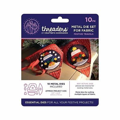Threaders - Mixed Media Metal Card + Fabric Die Set - Christmas Festive Travels