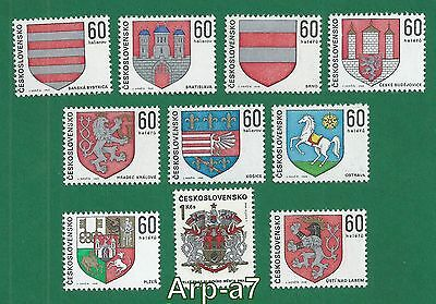 Czechoslovakia series of stamps MNH ** 1968 Characters Czechoslovak towns