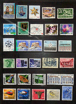 Lot of good used stamps from Europe - Switzerland