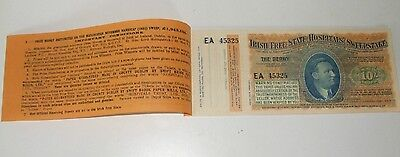 1932 Irish Free State Hospitals Sweepstake Derby Epsom 12 Ticket Booklet