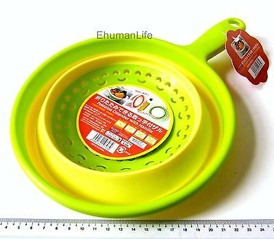 "Collapsible Folding Foldable Fruit Food 7.9"" Colander with Handle Bento GREEN"