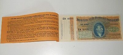 1932 Irish Free State Hospitals Sweepstake Derby Epsom 11 Ticket Booklet