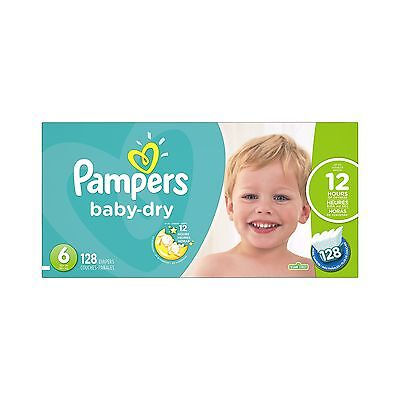 Pampers Baby-Dry DiapersSize-6 128-Count- Packaging May Vary Size-6, 128-Count