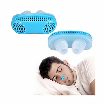 Advanced Anti Snoring and Sleeping Breath Aid Device Air Purifier Silicone No...