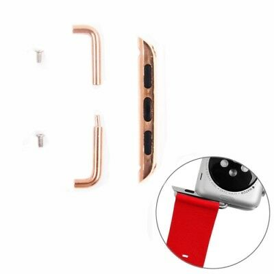 HI-TECH Rose Gold For Apple Watch 42mm  Metal Strap Connector Metal Buckle, Pair