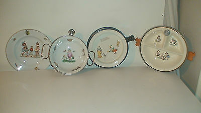 BCM NELSON WARE BABY BOWL GROUP 1930,s CHILDS HOT WATER  WARMING DISH BOWL
