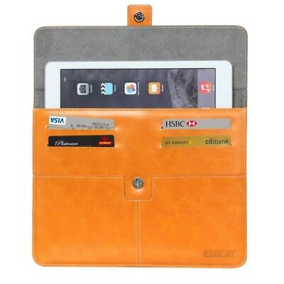 TECNICO Orange ENKAY For IPad Mimi Casual Commercial  Leather Case with Card Sl