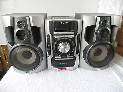 130 Watt Rms Sony Hifi System Stereo 3 Cd Player Tuner Tape Audio Input Mp3