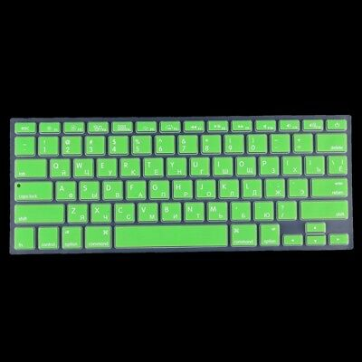 TECNICO Green Colorized Apple Laptop Silicone Keyboard Protector Protective Fil