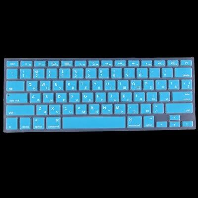 TECNICO Blue Colorized Apple Laptop Silicone Keyboard Protector Protective Film