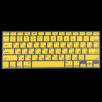 ELETTRONICA Yellow Colorized Apple Laptop Silicone Keyboard Protector Protectiv