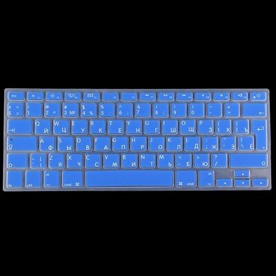 ELETTRONICA Dark Blue Colorized Apple Laptop Silicone Keyboard Protector Protec