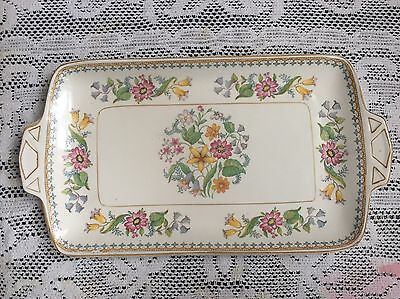 John Maddock & Sons Vitreous Floral Sandwich Plate
