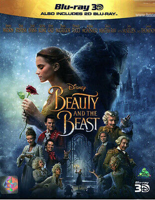 Beauty And The Beast (2017) (Combo Blu Ray 3D+2D)  / Region A *,  Emma Watson