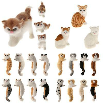 Realistic Animal Cute Cat Kitten Puppy Dog Pet Toy Home Decor Ornaments Gifts