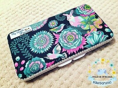 Floral Rabbit Bunny Wipes Small Travel Case. Wipes Case Wipes Cover Case
