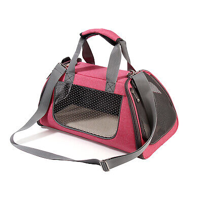 Pink Portable Soft Pet Carrier Cat Dog Puppy Crate Breathable Bag Travel Handbag
