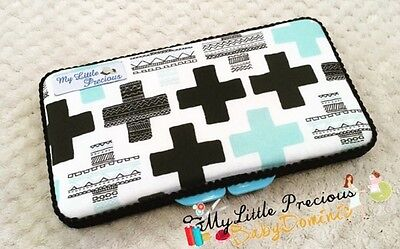 Cross Teal Crosses Wipes Small Travel Case. Wipes Case Wipes Cover Case