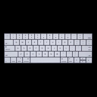 ELETTRONICA White Silicone Keyboard Protector for MacBook Pro 13.3 inch with To