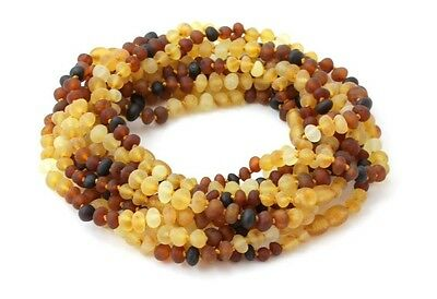 Amber Wholesale Lot - 10 Raw Amber Necklaces, 32 cm (12.5 inches), TipTopEco