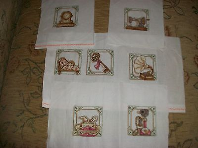 completed cross stitch- selection of mini designs (ideal for cards)